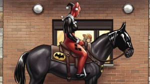 harley on the bat horse