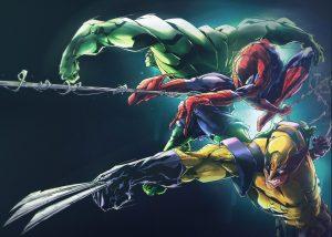 hulk spider man wolverine 8k uf
