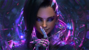sombra overwatch artwork 4k