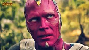 vision in avengers infinity war 2018 4k lv