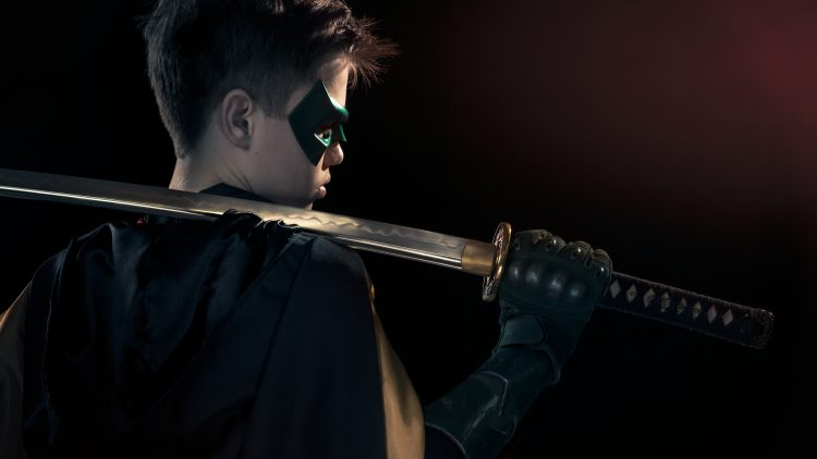 Cameron judd as Damiam Wayne in Red Hood