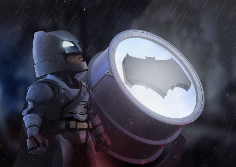 Chibi Batman and his night light