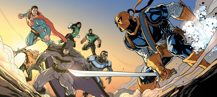 justice league vs deathstroke