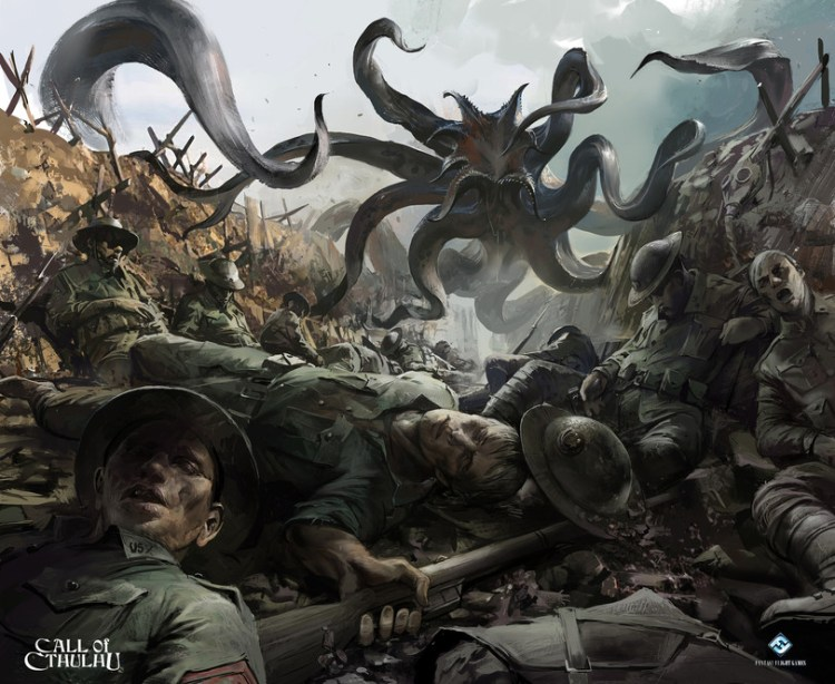 Cthulhu Monster in the trenches