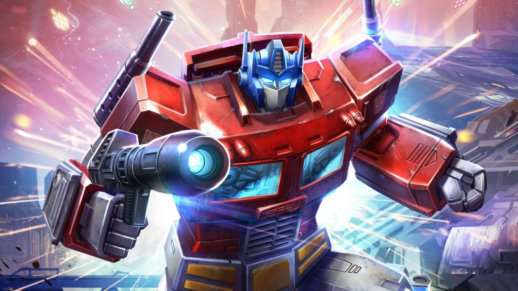 Optimus Prime with a big gun