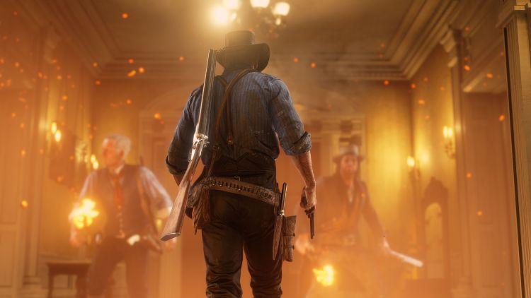 Red Dead Redemption 2 fire wallpaper