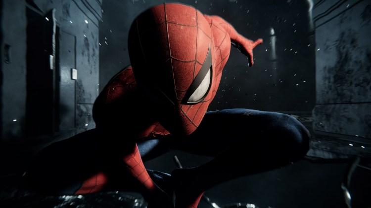 Spider-man eye closeup