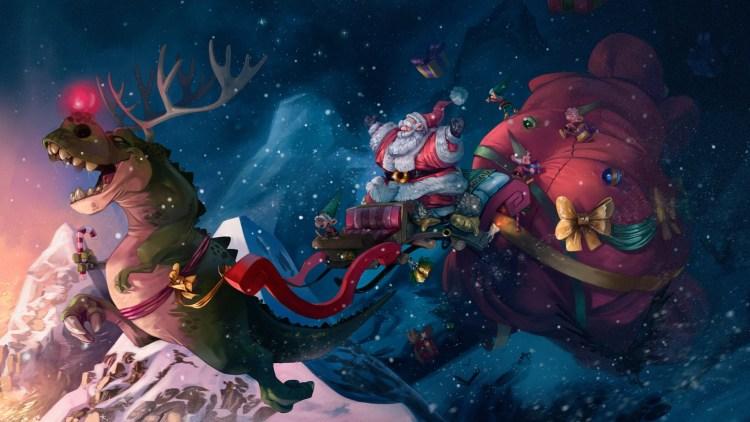 T-Rex Santa
