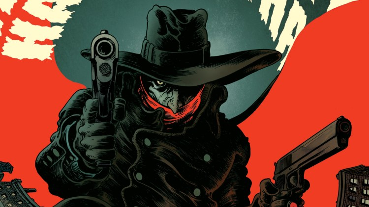 The Shadow with his guns