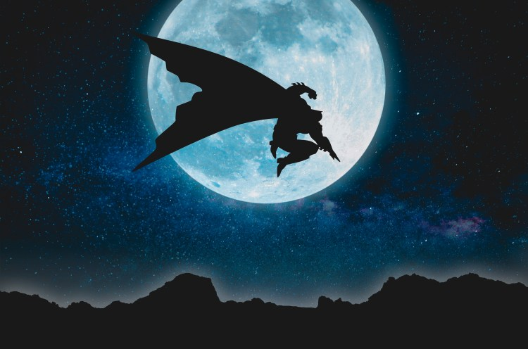batman and the moon