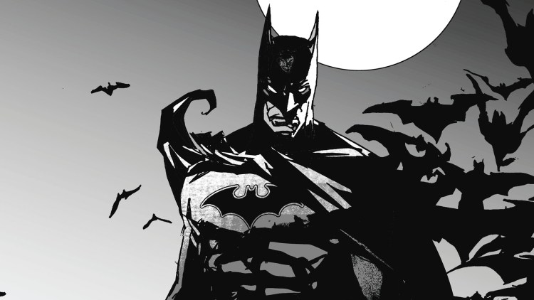 batman in black adn white