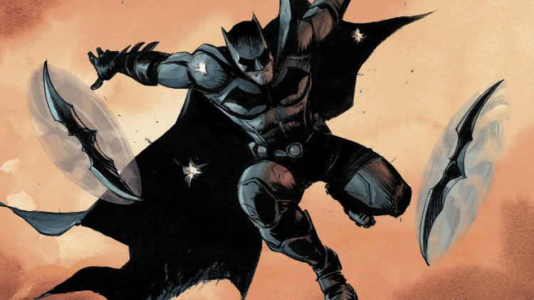 batman throwing batarangs