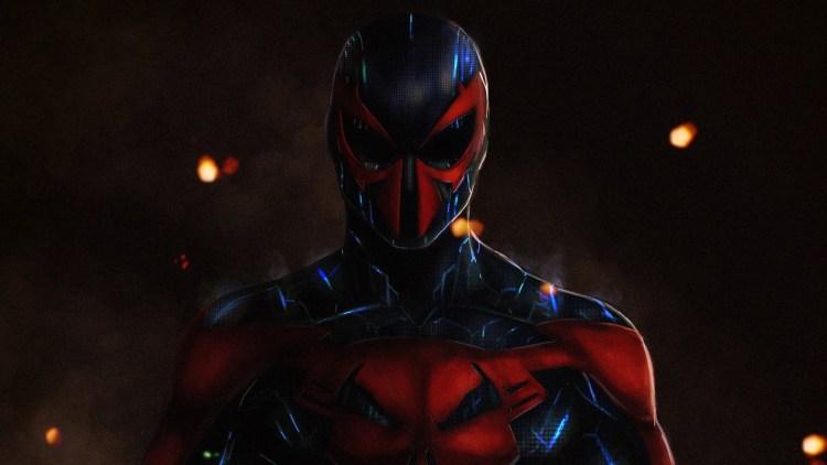 spider-man 2099 is shiney