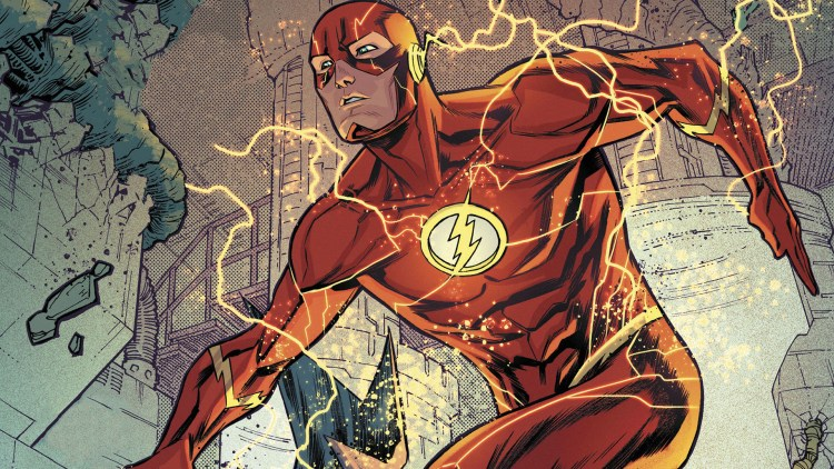 the flash is moving quickly in motion to move