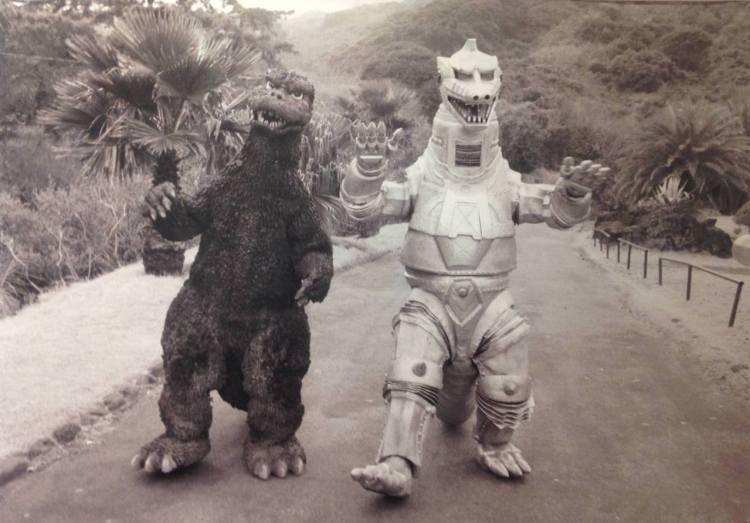 Godzill and his robot friend