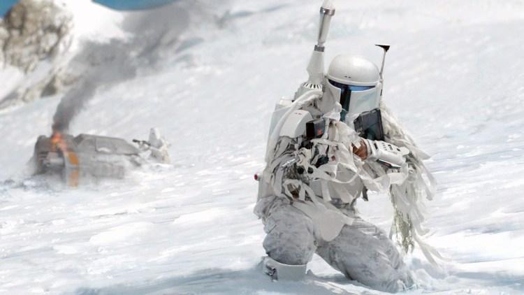 Snow Mandalorian