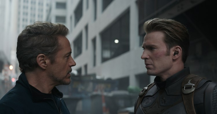 Stark and Rogers having a discussion
