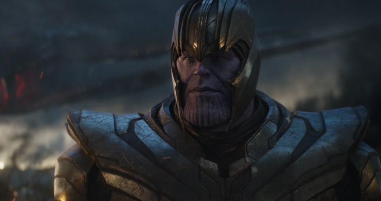 Thanos looking determined