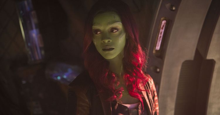 Gamora in a space