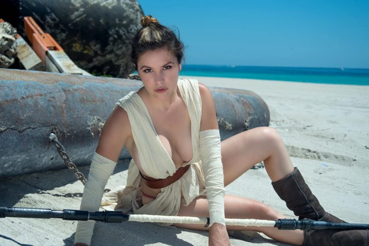 Rey on the beach
