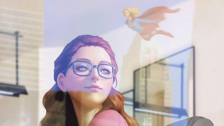 Batgirl and Supergirl