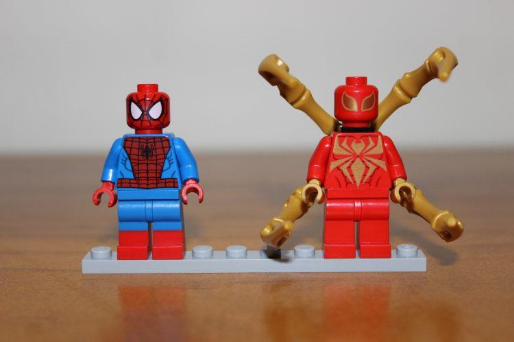 lego spider-man and iron spider