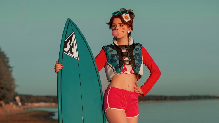 surfing cosplayer