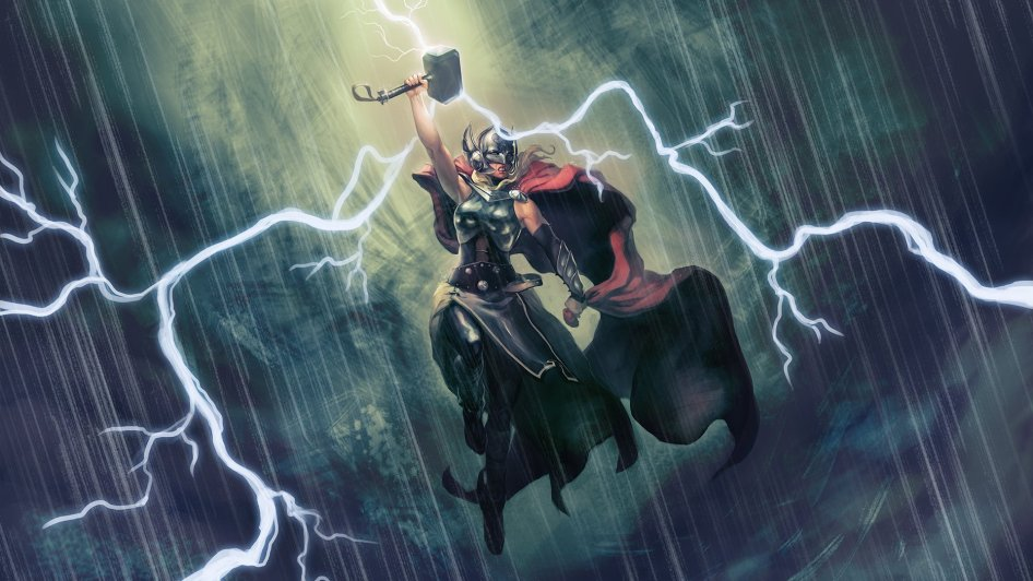 Female Thor In The Storm