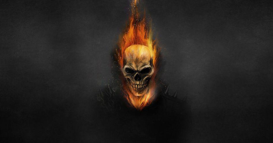 ghost rider in black