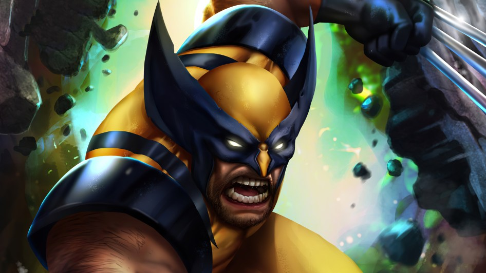 Wolverine has yellow eyes