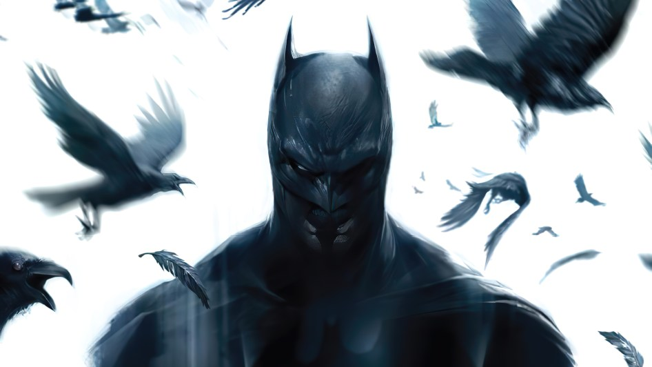 Batman with Corvids