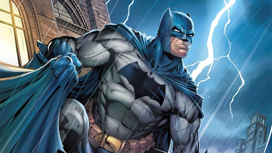 Lighting hitting Batman