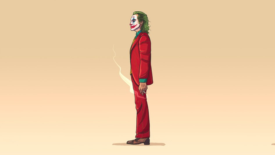 Joker smoking