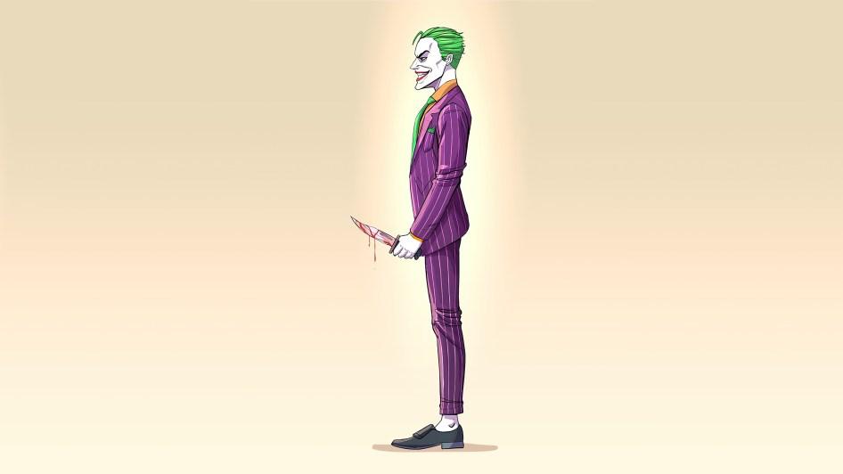 Joker is dripping blood