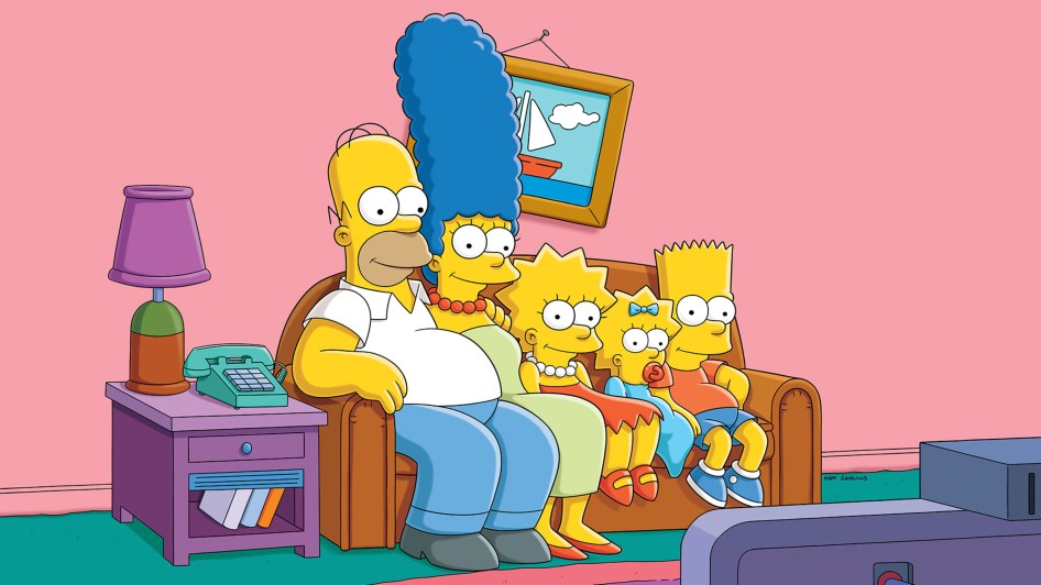 the simpsons on a couch