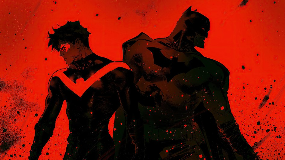 Red Nightwing and Black Batman