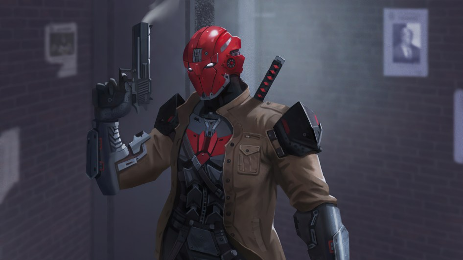 Red Hood with smoking gunner