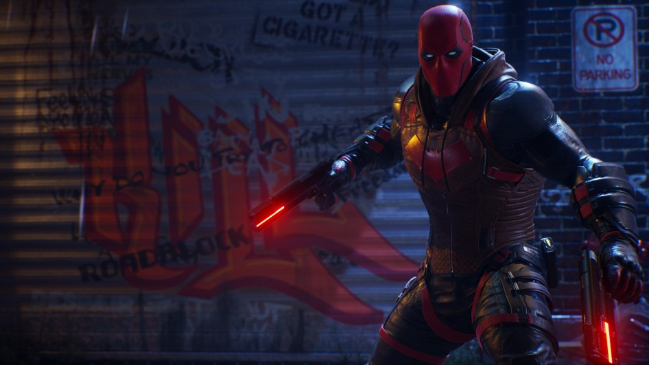 Red Hood has Neon Red Guns