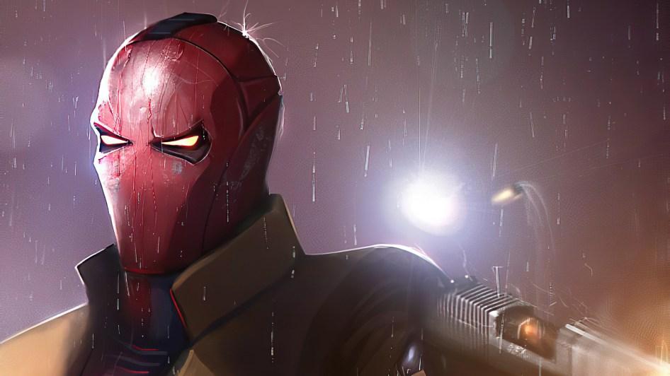 Red Hood in the rain