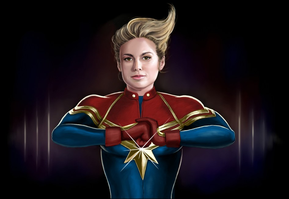 captain marvel fist folder
