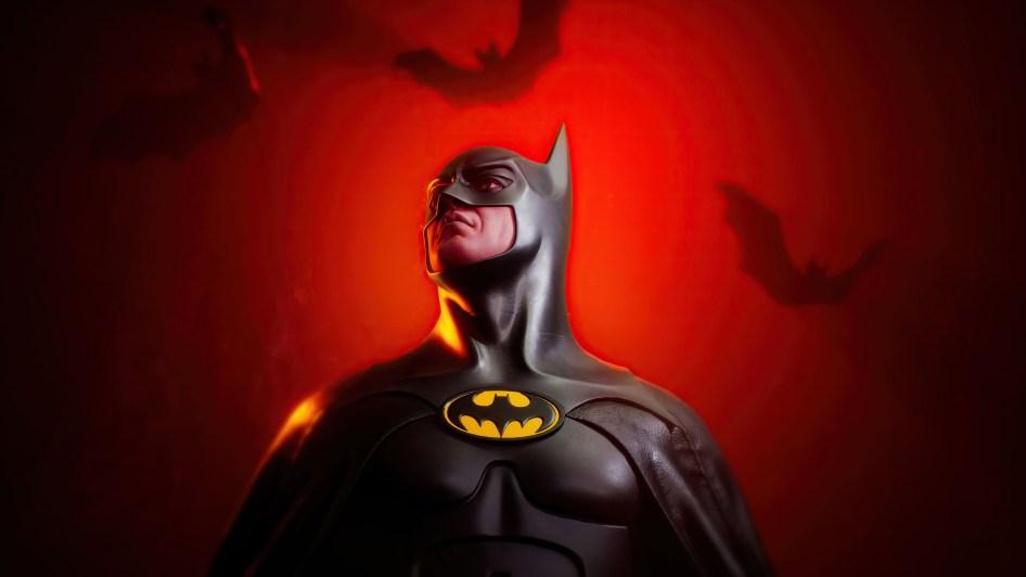 Batman in red