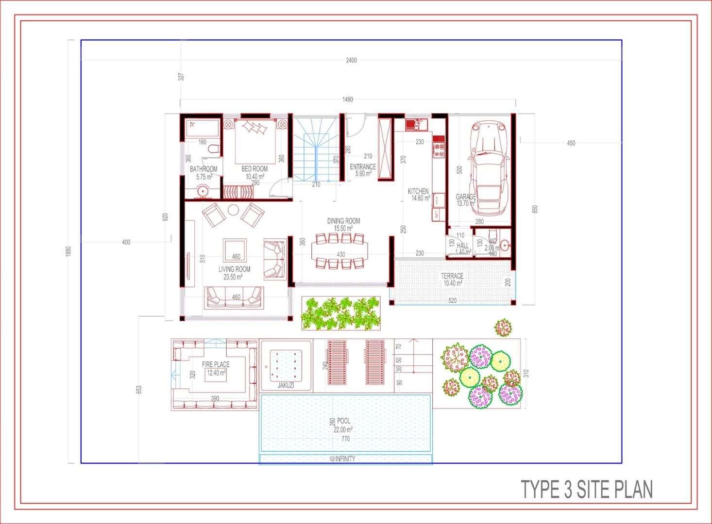 Type 3 Villa Site Plan