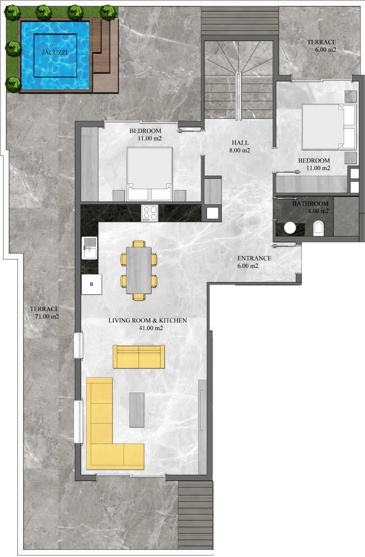 4 Bedroom Duplex Apartment Top Floor