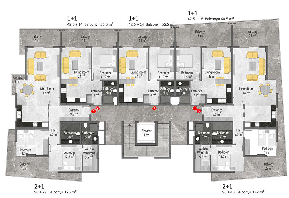 B block 3rd floor plan