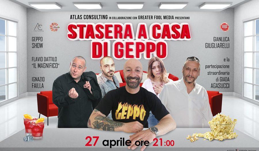 Dal web al Brancaccio di Roma il 27 aprile Stasera a casa di Geppo