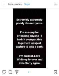 instagram story lorde