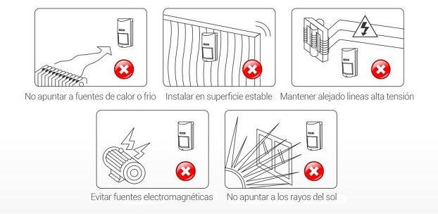 Detector de movimiento alarma exterior inalambrico anti