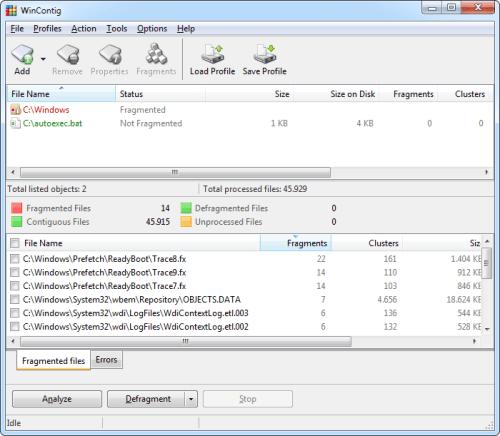 Winconting: deframmentare i file in modo facile e veloce
