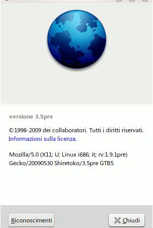 Firefox 3.5 Shiretoko, la prova