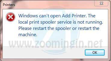 Risolvere problema di stampa con Windows Vista e Windows 7
